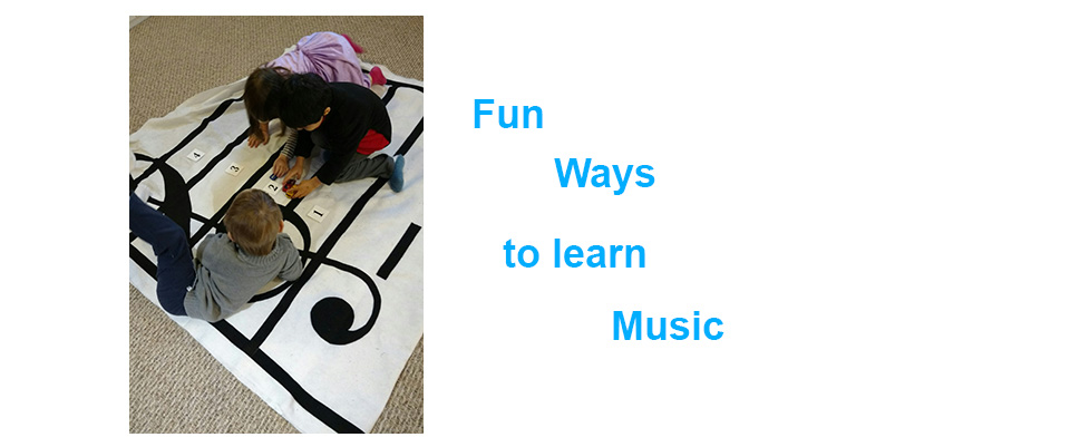 Children learning the treble clef